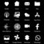 Dark night minimal icon